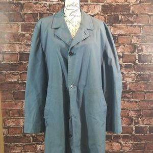 London Fog Maincoats 44L Blue/Teal Coat